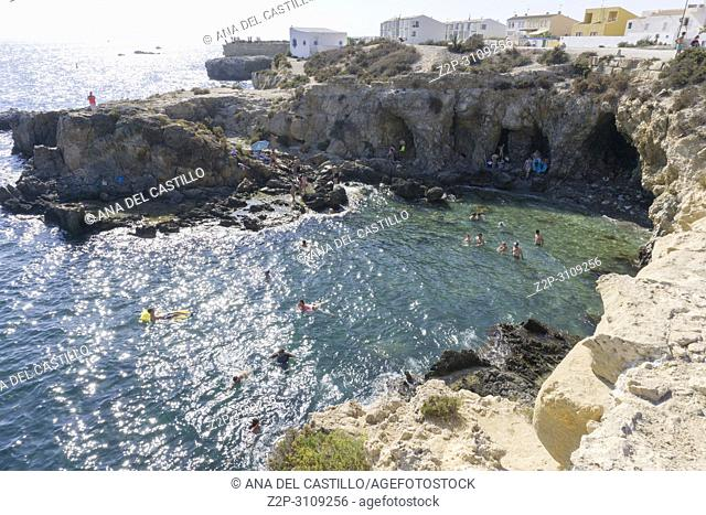 Coast in Tabarca, is an islet located in the Mediterranean Sea, close to the town of Santa Pola, in the province of Alicante, Valencian community