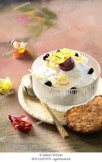 Syllabub with ginger and citrus fruits (England)