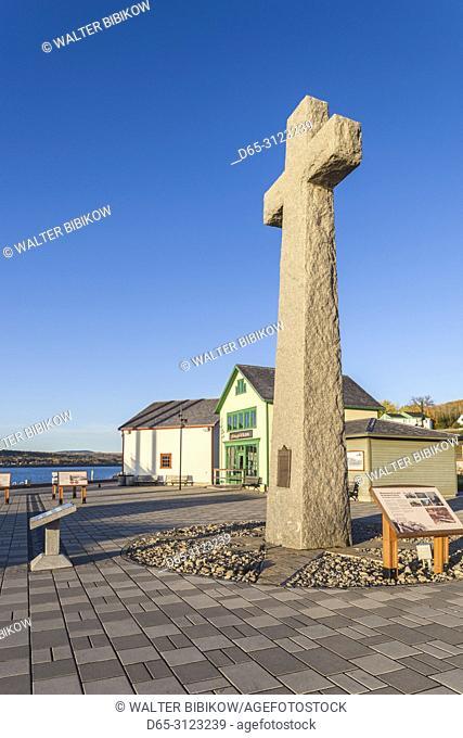 Canada, Quebec, Gaspe Peninsula, Gaspe, Jacques Cartier landing site, morning