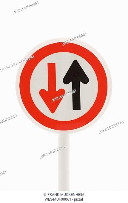 Traffic sign, close-up