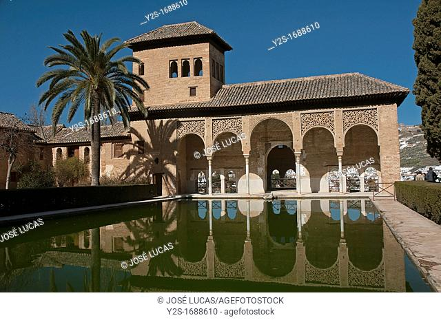 The Partal - palace and pond, The Alhambra, Granada, Spain