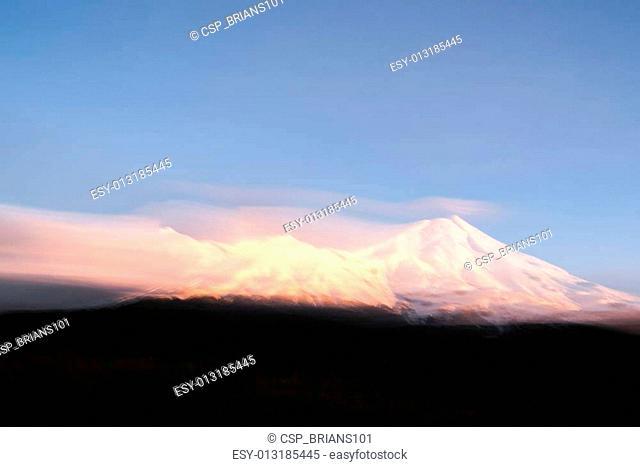 Mount Egmont painterly effect