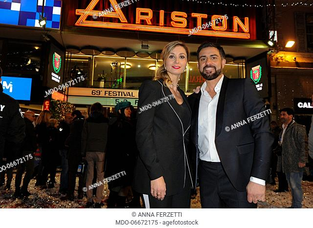 Anna Ferzetti and Simone Montedoro at 69th Sanremo Music Festival. Sanremo (Italy), Fabruary 5th, 2019