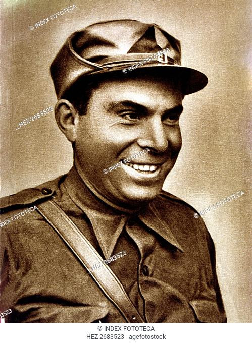 Buenaventura Durruti (1896-1936), Spanish anarchist leader, reproduction of a photograph