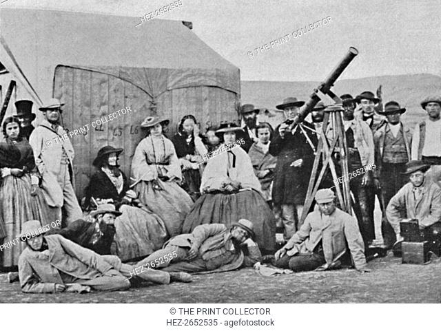 'The Rivabellosa Expedition, 1860', 1860, (1904). 1860 expedition for total solar eclipse of July 18th, 1860, observed at Rivabellosa