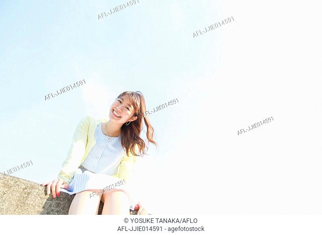 Attractive young Japanese woman portrait