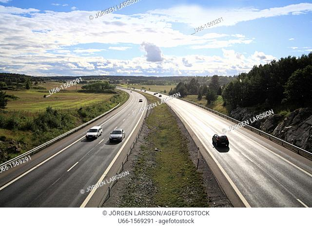 E4 Road Trosa Sweden