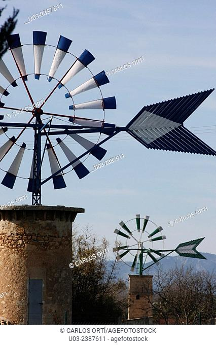 Windmills in Majorca, Spain