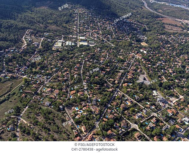 Aerial view of Valldoreix. Barcelona