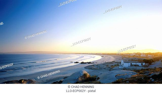 View Over the Beach and Ocean at Sunset  Paternoster, Western Cape Province, South Africa