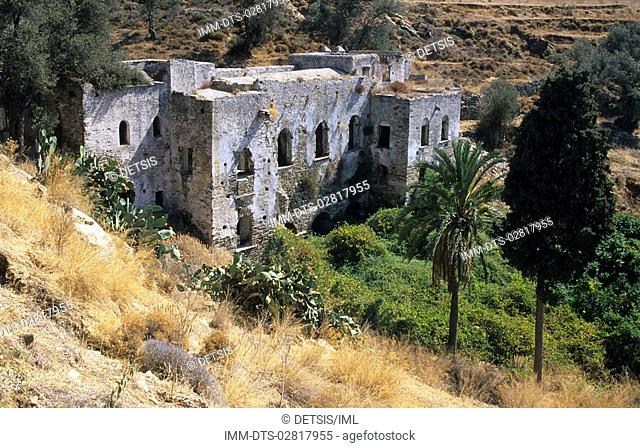 Kalamitsia monastery , Naxos, Cyclades, Greece