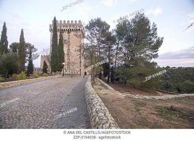 Alarcon Castle now a state run hotel Province of Cuenca Castile-la Mancha Spain