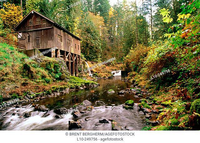 Cedar Creek Gristmill, near Vancouver. Washington. USA