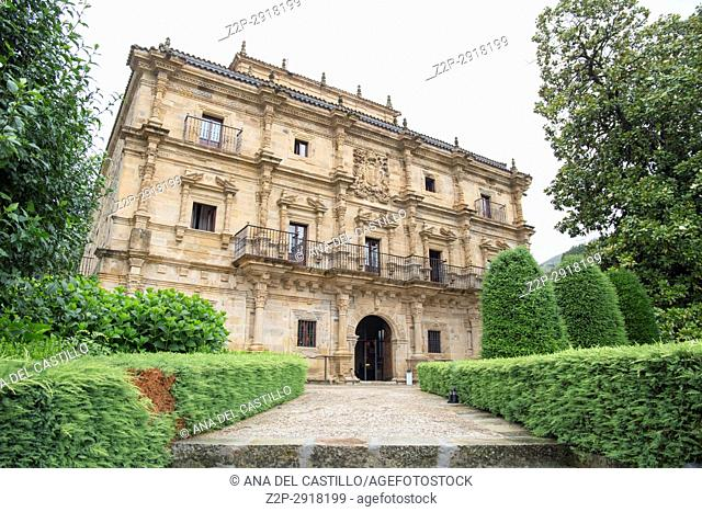 Sonanes palace in Villacarriedo village Cantabria valley Spain on July 1, 2017