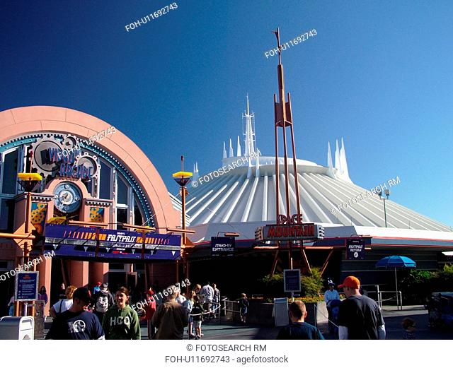 Orlando, FL, Florida, Walt Disney World Resort, Magic Kingdom Park, Tomorrowland, Space Mountain (Editorial Use Only)