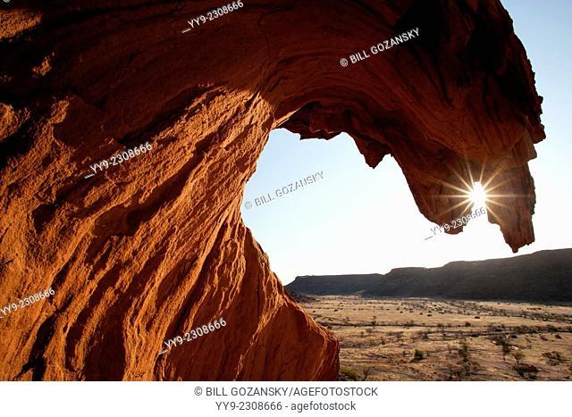 Sunset at Twyfelfontein Ancient Rock Engravings Site - Damaraland - Kunene Region, Namibia, Africa