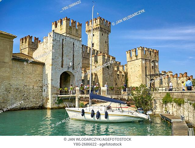 Scaliger Castle, Sirmione, Garda Lake, Lombardy, Italy