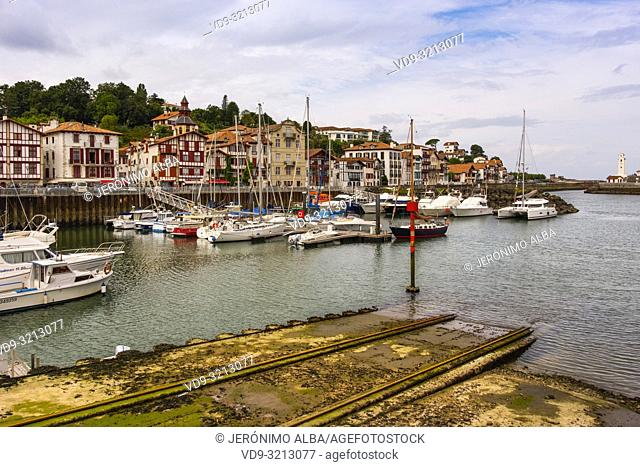 Basque Country. Ciboure city and port, Pyrénées-Atlantiques department, Aquitaine region. South Western France