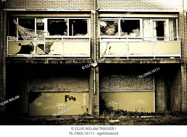 Derelict and abandoned flats