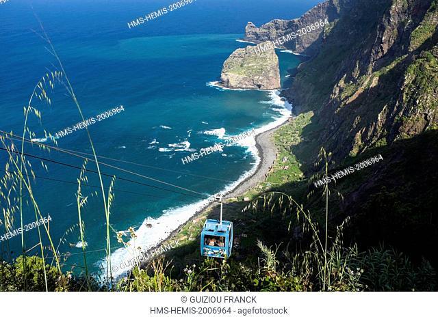 Portugal, Madeira island, Santana on the north coast, Rocha do Navio Nature Reserve
