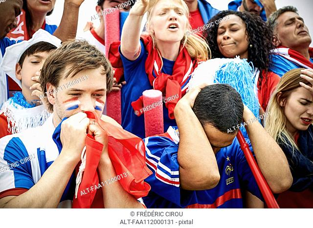 French football fans watching football match
