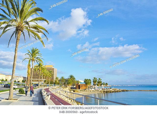 Paseo Maritimo, Passeig Maritim, at Can Pere Antoni, Palma, Mallorca, Balearic islands, Spain