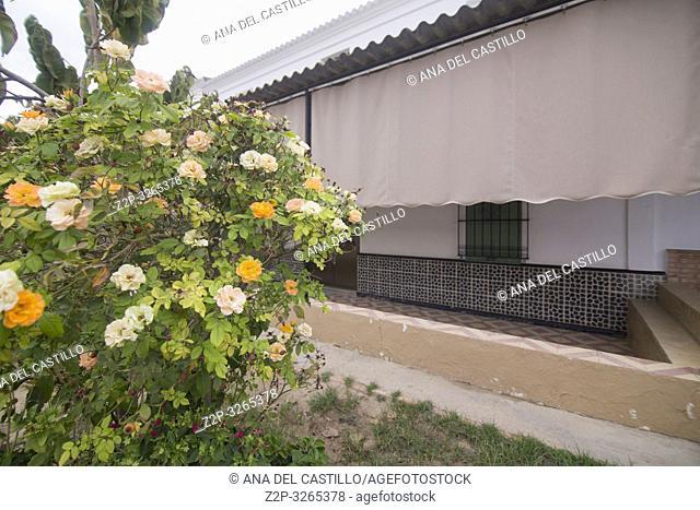 Aldea de El Rocio in Almonte Huelva province Andalusia Spain on October 14, 2017