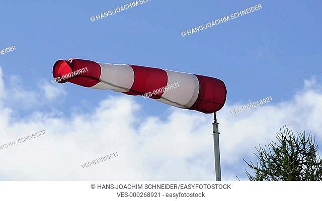 windsock flying in wind