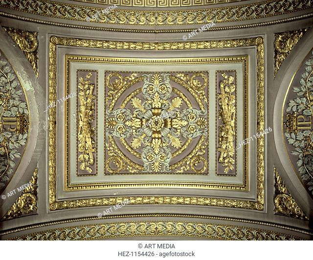 Detail of a cupola, Galerie des Batailles (Gallery of the Battles), Chateau de Versailles, France
