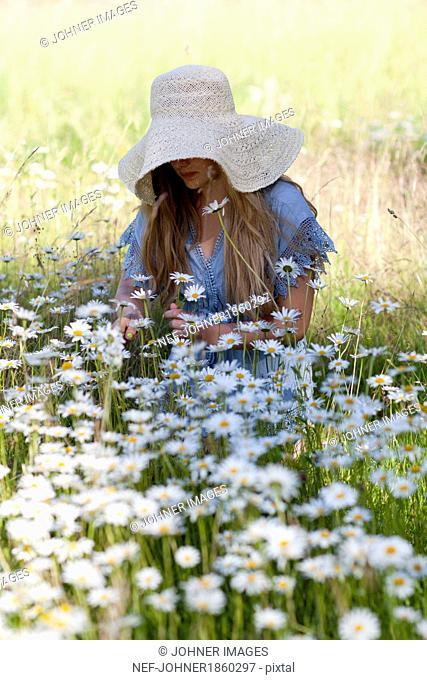 Teenage girl on meadow