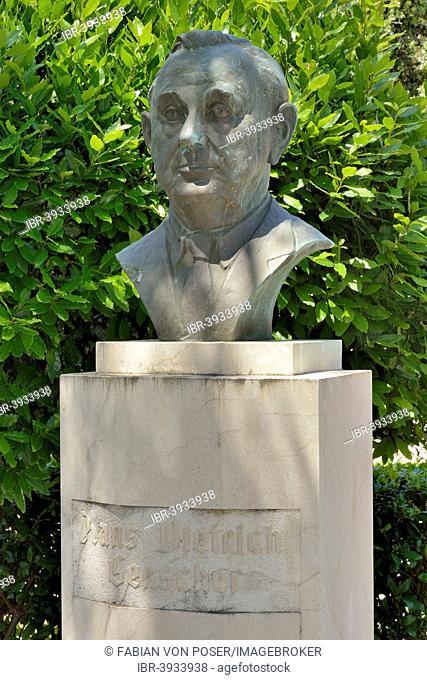 Bust of Hans-Dietrich Genscher, German Foreign Minister from 1974-1992, Selca, Brac Island, Croatia