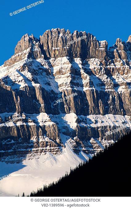 Mountain along Icefields Parkway, Jasper National Park, Alberta, Canada