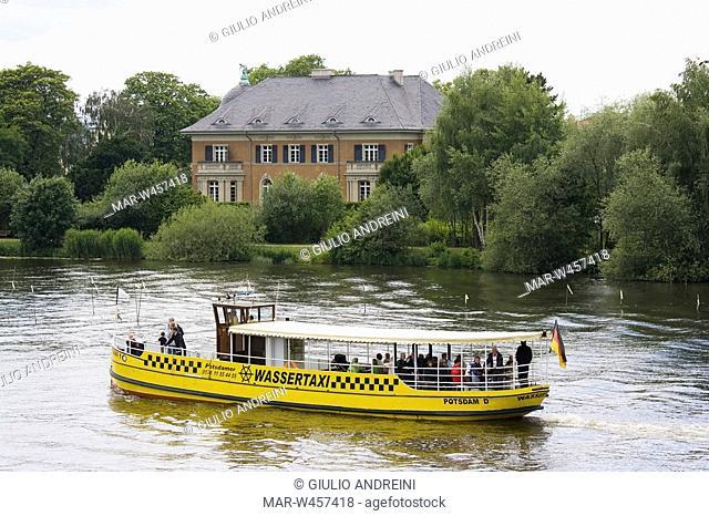 villa kampfmeyer, lago tiefer, potsdam, brandeburgo, germania
