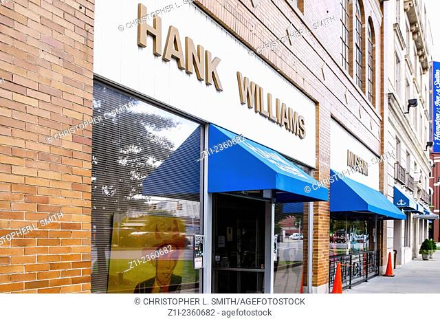 The Hank Williams museum in downtown Montgomery Alabama