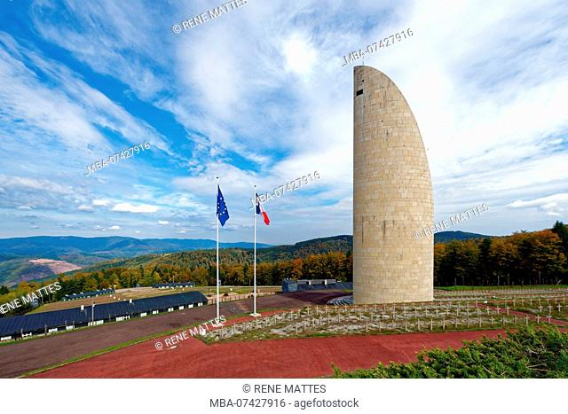 France, Bas Rhin, Natzwiller, Le Struthof former Nazi Concentration Camp, only Nazi run camp on French territory in World War Two, camp memorial monument