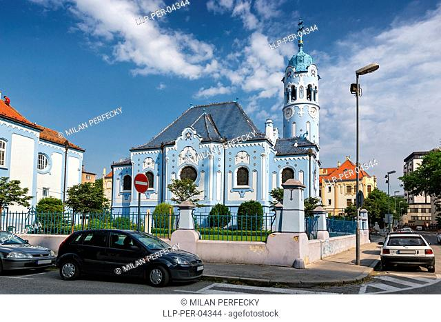 Blue Art Nouveau Church, Christianity, Catholic, Bratislava, Slovakia