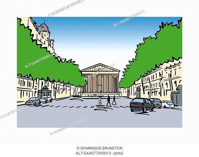 Illustration of La Madeleine, Paris, France