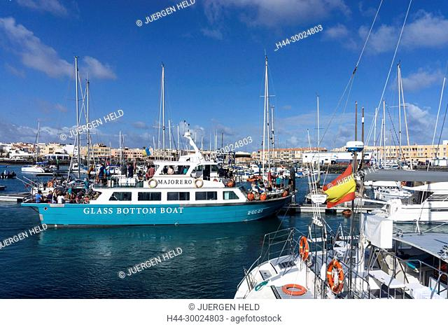 Corralejo Marina, Glass Bottom Boat , Fuerteventura, Canary Islands, Spain