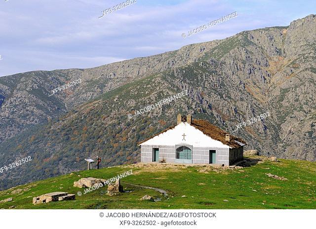 Hermitage refuge of Nuestra Señora de Las Nieves. La Sierra Game Reserve. Gredos mountains. Guijo de Santa Bárbara. Cáceres province. Extremadura
