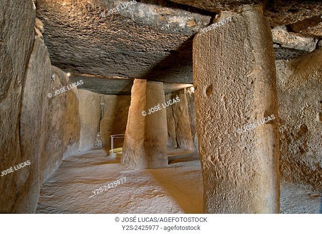 Dolmen - Cueva de Menga, Antequera, Malaga province, Region of Andalusia, Spain, Europe