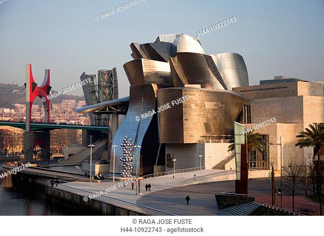 Spain, Europe, Basque Country, Bilbao, architect, architecture, bilbao, different, famous, Frank, Ghery, museum, new, river, skyline, style, metal