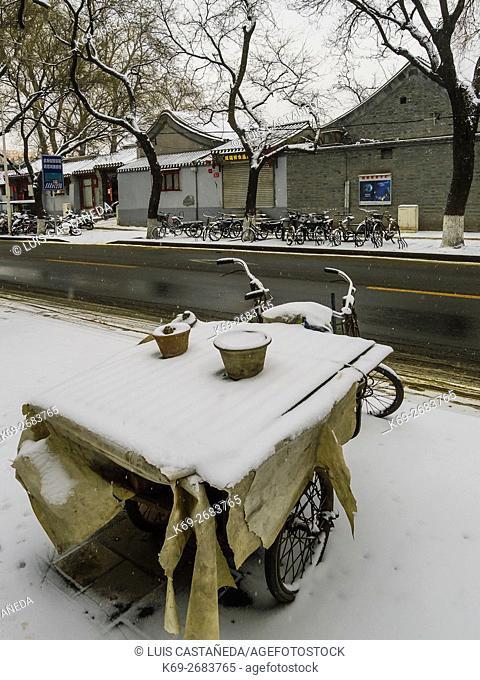 Beichizi Street in Winter. Beijing. China