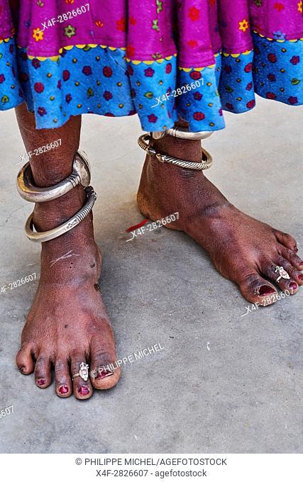 India, Rajasthan, Meda village around Jodhpur, Rabari ethnic group
