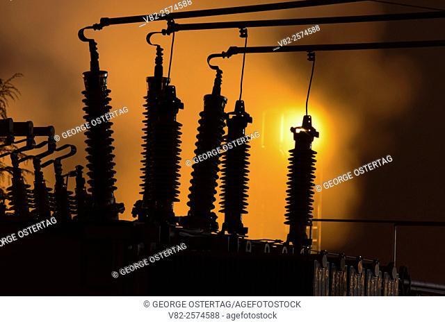 Utility insulators, Kalama, Washington