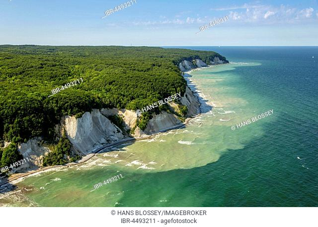 Chalk coast in Sassnitz, Jasmund National Park, Rügen, Baltic coast, Mecklenburg-Western Pomerania, Germany