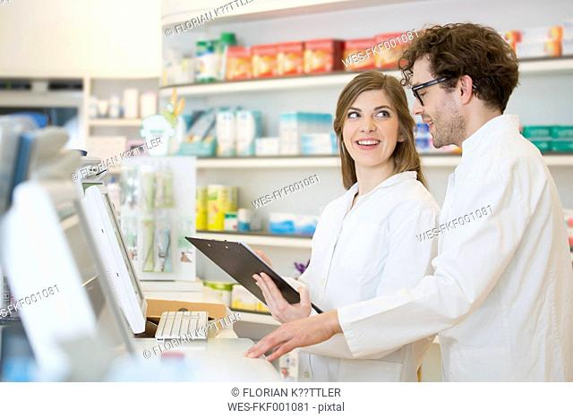 Two talking pharmacists