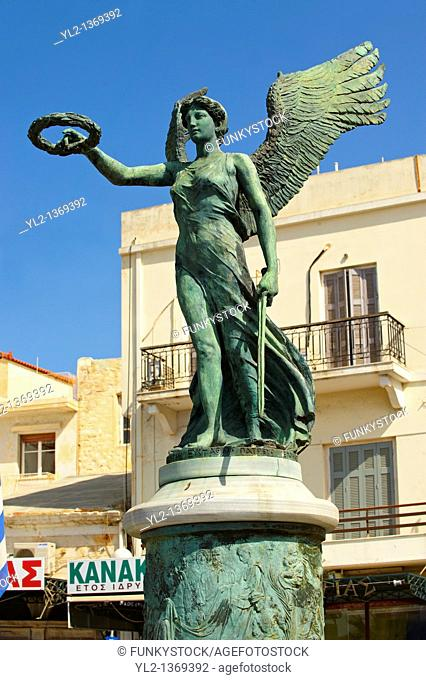 Statue to the National Resistance, Ermoupoli port, Syros  S  , Greek Cyclades Islands