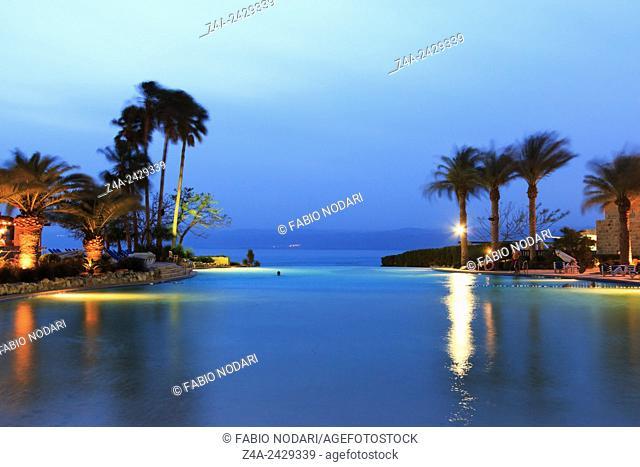 Dead Sea at dusk