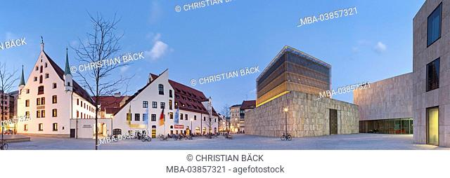 Munich town museum and new main synagogue in the St. Jakob's square, Munich, Upper Bavaria, Bavaria, Germany
