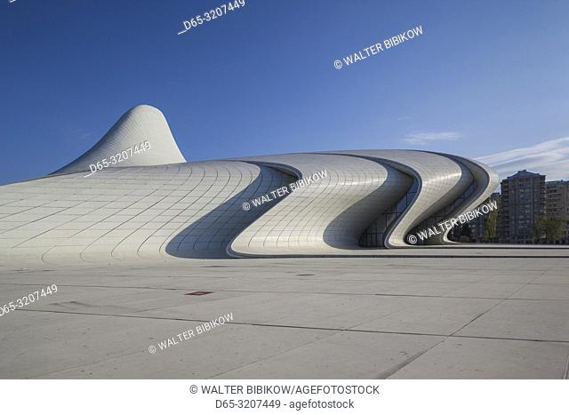 Azerbaijan, Baku, Heydar Aliyev Cultural Center, building designed by Zaha Hadid, exterior